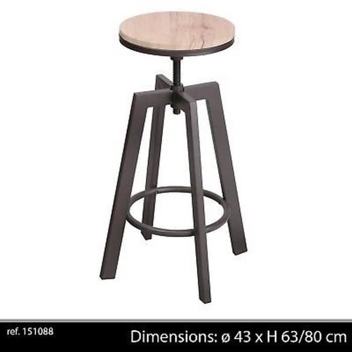 tabouret reglable bois achat vente pas cher. Black Bedroom Furniture Sets. Home Design Ideas