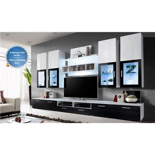 ensemble meuble tv murale ronn achat vente meuble tv. Black Bedroom Furniture Sets. Home Design Ideas