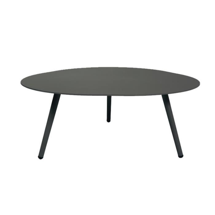 table basse en alu gris anthracite spezia - achat / vente table de