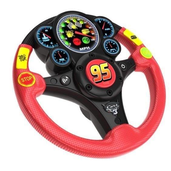 EKIDS Cars Volant de Conduite pour Enfant CR-155 Rouge