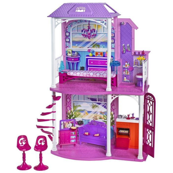 la maison de barbie achat vente maison poup e cdiscount. Black Bedroom Furniture Sets. Home Design Ideas