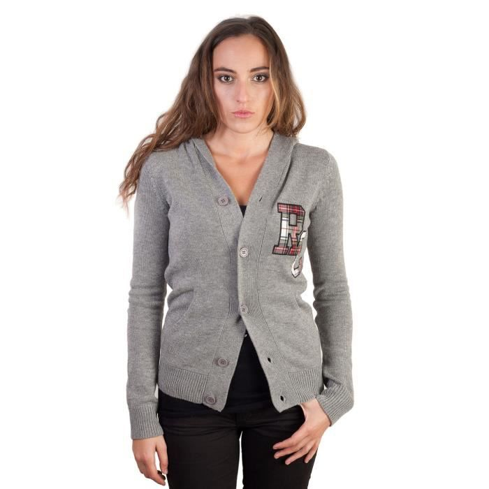 gilet laine cachemire femme co gris gris achat vente gilet cardigan cdiscount. Black Bedroom Furniture Sets. Home Design Ideas