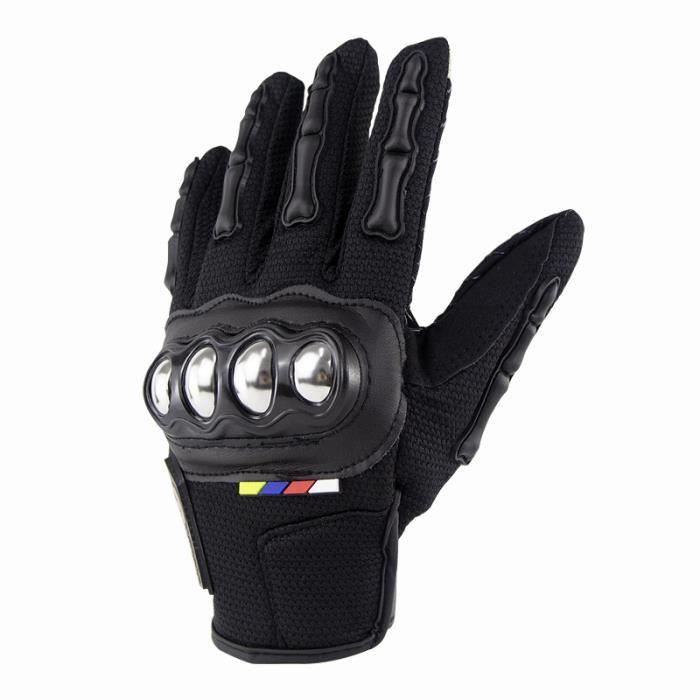 Gants de Moto en Fibre de Carbone Gants de Moto /ét/é VTT luvas Moto VTT Gants de Plein air Respirants et Portables