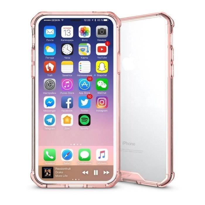 coque iphone x transparent et resistant elegant r