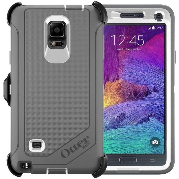 coque defender otterbox samsung galaxy note 4 gris achat. Black Bedroom Furniture Sets. Home Design Ideas