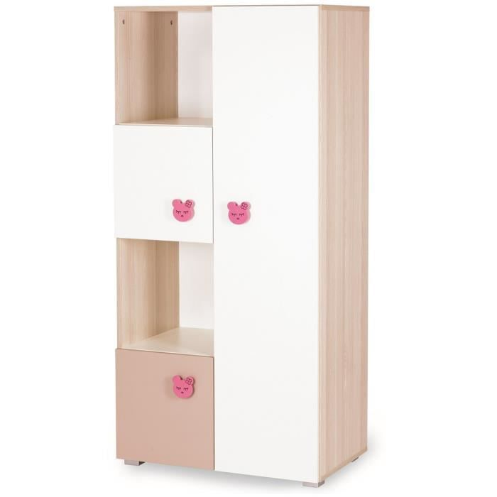 armoire m gui couleur marketing rose composition bois achat vente armoire de chambre. Black Bedroom Furniture Sets. Home Design Ideas
