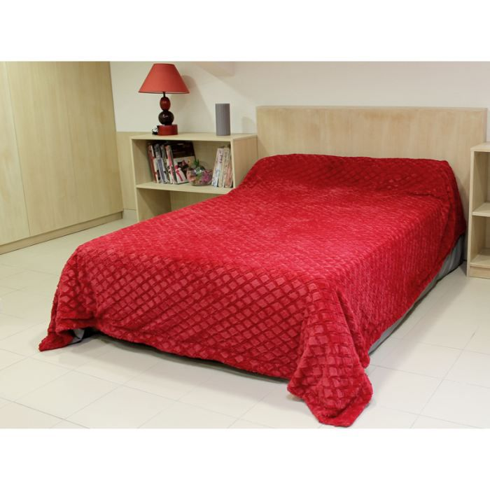 couvre lit diamant rouge achat vente jet e de lit. Black Bedroom Furniture Sets. Home Design Ideas