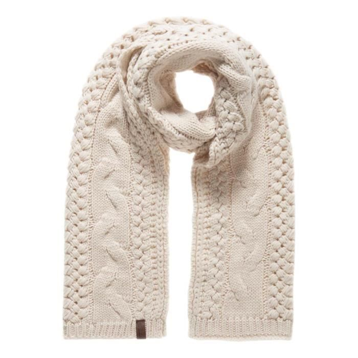 Accessoires femme Echarpes Superdry North Cable Blanc - Achat ... 9aa6ff14561