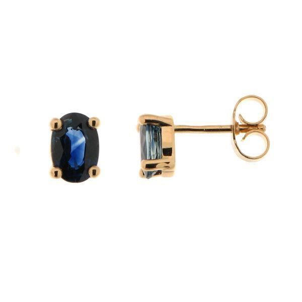 boucles d oreilles or jaune saphir ovale 6x4mm achat. Black Bedroom Furniture Sets. Home Design Ideas