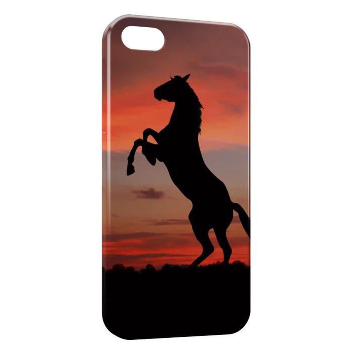 coque iphone 5c cheval cabre 2 sunset