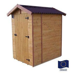 ABRI JARDIN - CHALET Habrita - Abri WC EDEN toilette sèche 16 mm surfac