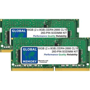 MÉMOIRE RAM 16Go (2 x 8Go) DDR4 2666MHz PC4-21300 260-PIN SODI