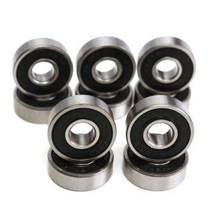 Roulements /à billes 10pcs 5x11x4mm en plastique en acier au carbone poulie rouleau int/égr/é roulements /à billes