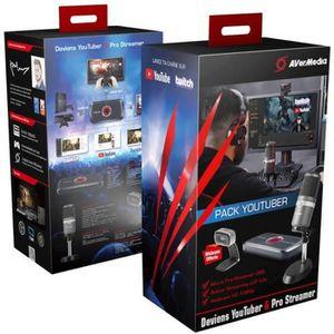 BOX MULTIMEDIA AVERMEDIA Pack Youtuber-Pro Streamer - Noir - Boît