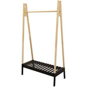 PENDERIE MOBILE THE HOME DECO FACTORY Portant à vêtement en bois -