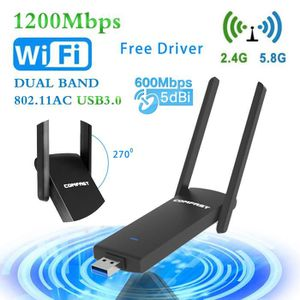 CLE WIFI - 3G Clé WiFi USB 3g - 1200Mbps adaptateur wifi usb - U