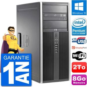 ORDI BUREAU RECONDITIONNÉ PC Tour HP 8200 Intel G630 RAM 8Go Disque Dur 2To