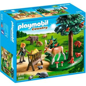 FIGURINE - PERSONNAGE PLAYMOBIL 6815 Garde Forestière avec Animaux