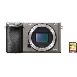 APPAREIL PHOTO RÉFLEX SONY A6000 Body Grey + 64GB SD card