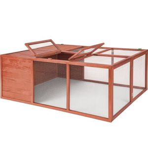 CLAPIER TECTAKE Cage Lapin Hamster Rongeurs Pliable en Boi