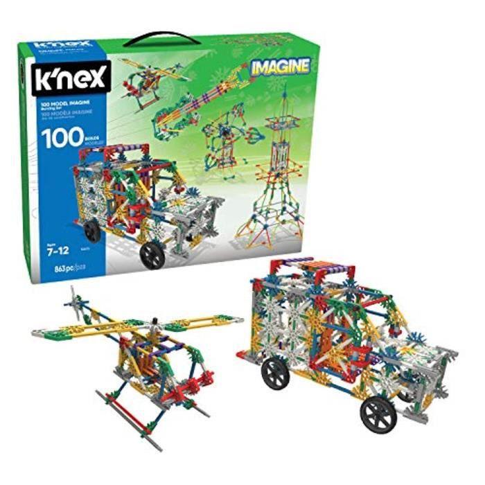 Jeu D'Assemblage XN528 KNEX 100 Modèle de construction Set 863 pièces Âge 7+ Ingénierie jouet éducatif