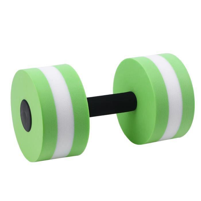 Barre de main d'haltère d'eau d'EVA d'haltère d'exercice aquatique pour l'aérobic de résistance à l'eau (vert)