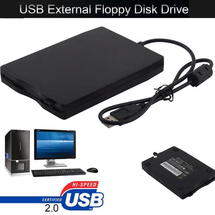 """3.5 """"Usb 2.0 Portable disquette externe Lecteur de disque 1,44 pour Pc portable Win 7 8 10 @Nihapai3774"""
