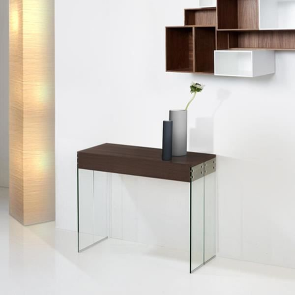 TABLE CONSOLE 4 ALLONGES NEW YORK WENGE