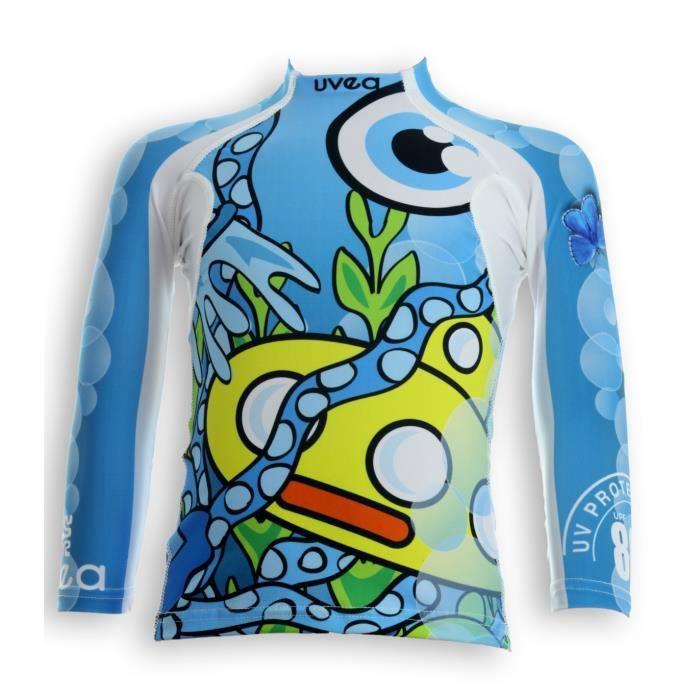 UVEA Teeshirt rashguard anti UV 80+ maillot manches longues INDIANA - Taille 2/4 ans - Imprimé yellowsubmarine