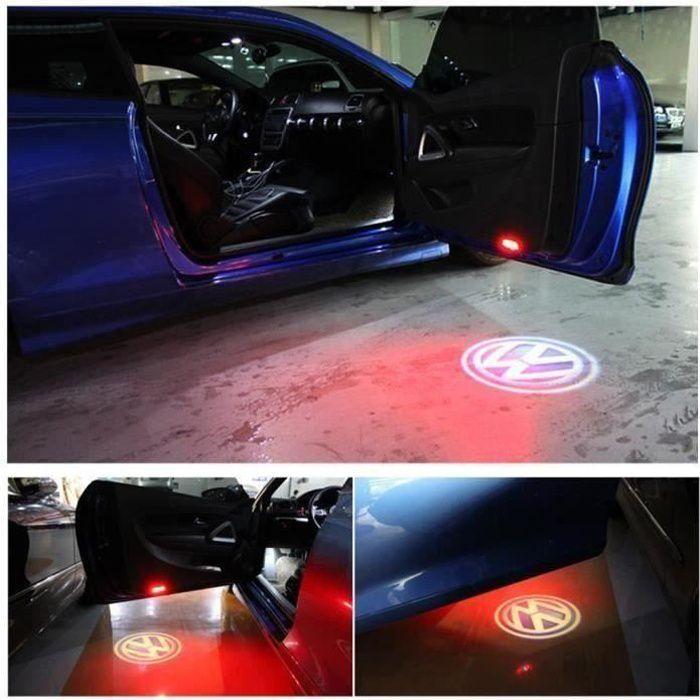 Porte LED Voyant Avec VW Logo projecteur Pour VW Golf 5 6 7 Jetta MK5 MK6 MK7 CC Passat B6 B7 Tiguan Scirocco Avec harnais a099