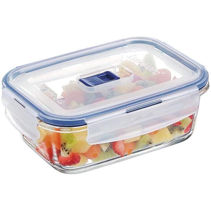 Luminarc Pure Box Active - Boîte de Conservation hermétique en verre, rectangulaire 0,82 L