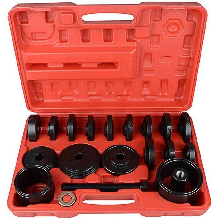 Kit d'outils de service d'installation de retrait de roulement 23 pièces, kit d'extracteur de roulement de roue avant, acier au