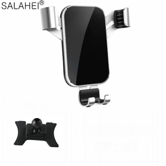 Supports voiture,Support de téléphone portable pour Audi Q2 tableau de bord montage GPS support de téléphone pince - Type silver