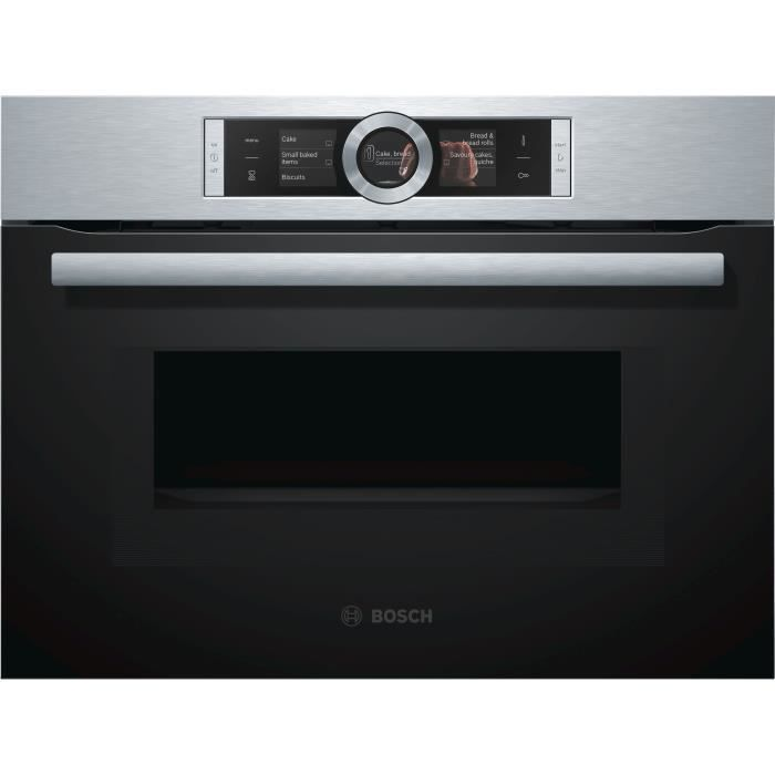 BOSCH CMG636BS1 Four intégrable - Fonction Micro-onde - 45L - Pyrolyse - A - Inox