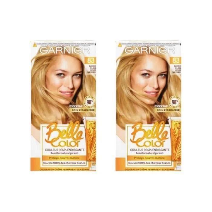 GARNIER Coloration 83 Blond Clair Doré Naturel (Lot de 2)