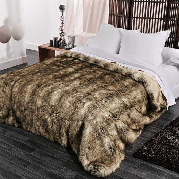 Couvre-lit (230 x 250 cm) Imitation fourrure Grizzly