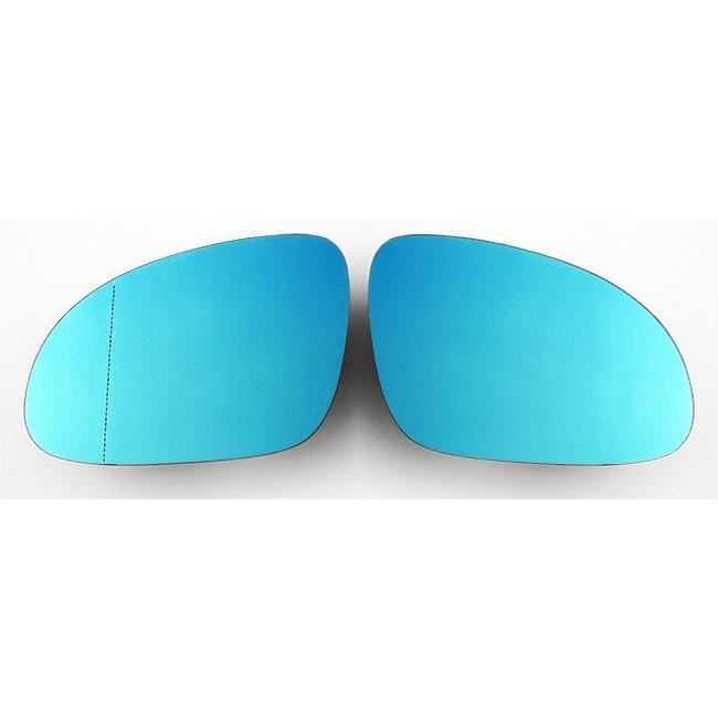 Pour VW Golf Seat Skoda Miroirs Glace Bleu Dégivrant Rétroviseur Gauche + Droit