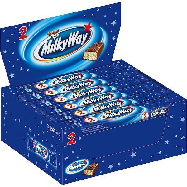 Milky Way 2Pack Chocolate Barres 43g (Pack de 28)