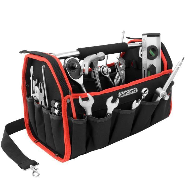 Sac à outils rangement outils pratique avec poches et bandoulière - Taille L
