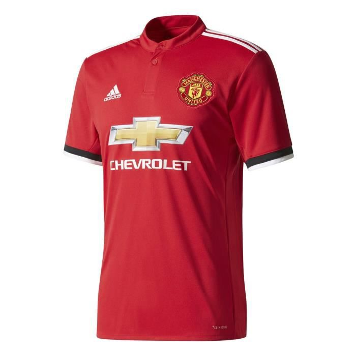Adidas Performance Maillot De Football Manchester United Domicile 2017-18 Rouge Maillot Club Homme Football