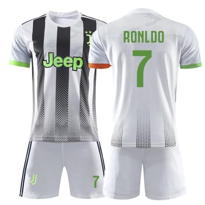 Nouveau Juventus Maillot de Foot Football Soccer NO.7 Cristiano Ronaldo 2019 2020 Pas Cher pour Homme Enfant Garçon