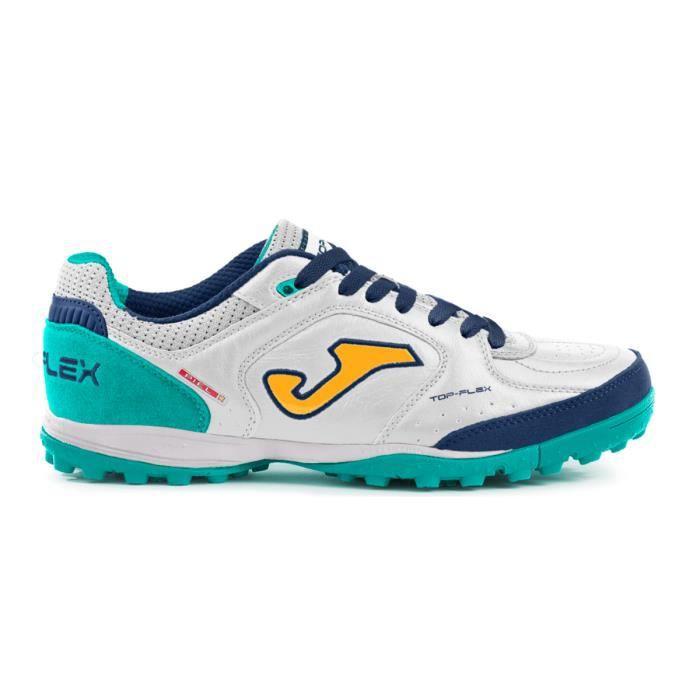 Chaussures de football Joma Top Flex Turf 2032 - blanc/turquoise - 44