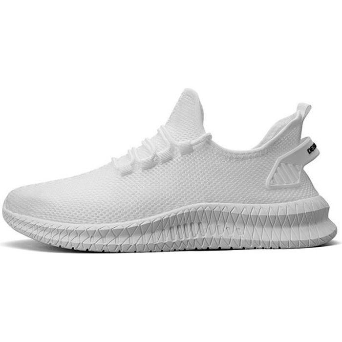 Chaussures de sport pour hommes, Flying Woven Mesh-Blanc