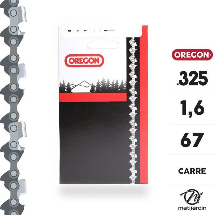 Chaîne Oregon pour tronçonneuse .325- 1,6 mm. 67 maillons. Gouge profil carré. Super 20 - Produit neuf