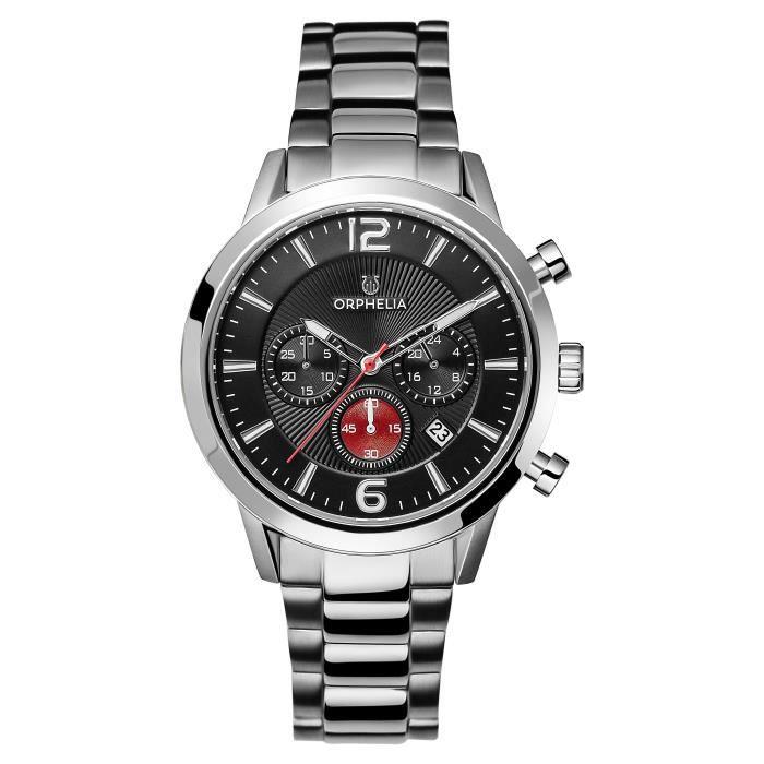 ORPHELIA - Montre Homme - Quartz Chronographe - Bracelet Acier inoxydable Argent - OR82807