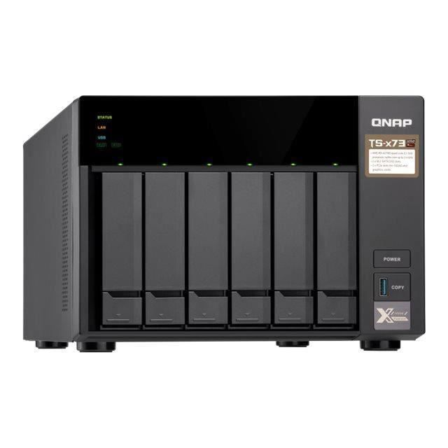 QNAP Système de stockage SAN/NAS TS-673 - 6 x Total de compartiments - 512 Mo Flash Memory Capacity - AMD R-Series Quad-core