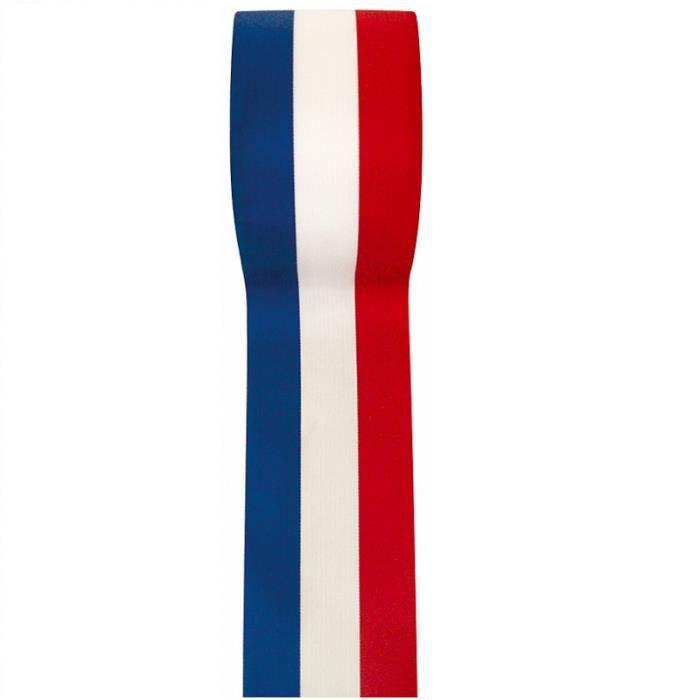 REF/2800 - 1 Ruban tricolore France 10mm x 25m