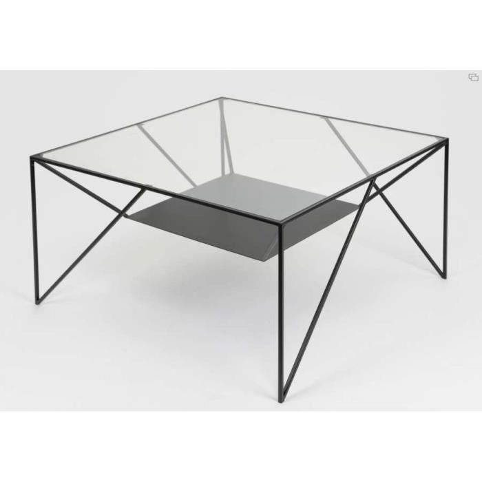 Table basse design noire amadeus dimensions achat for Dimensions table basse