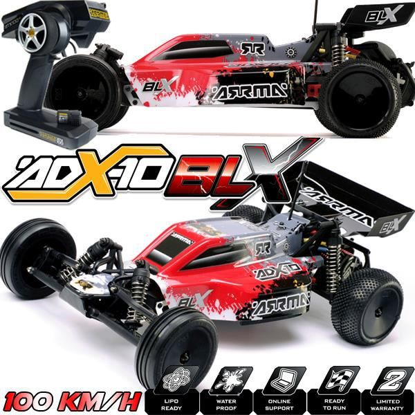 buggy arrma blx adx 10 rouge 100km h voiture electrique brushless 1 10 me rc 2wd. Black Bedroom Furniture Sets. Home Design Ideas