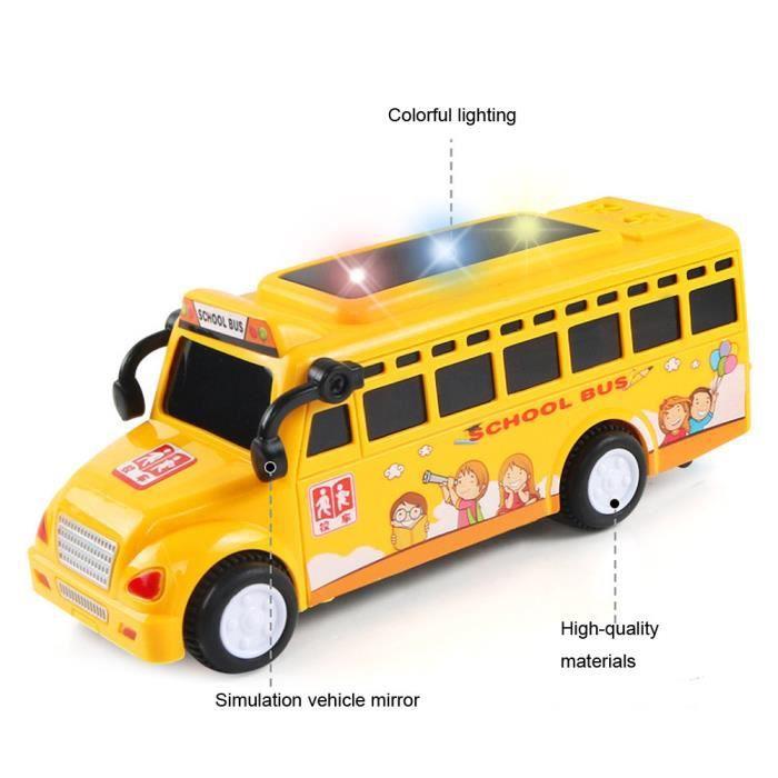 La Voiture D Enfants De Bébé Joue Des Kits De Voiture D Inertie Jouent Des Jouets De Dessin Animé Autobus Scolaire Mignon De